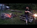Харлей Дэвидсон жгёт... Как разжечь костёр при помощи мотоцикла. / How to light a fire with Harley Davidson