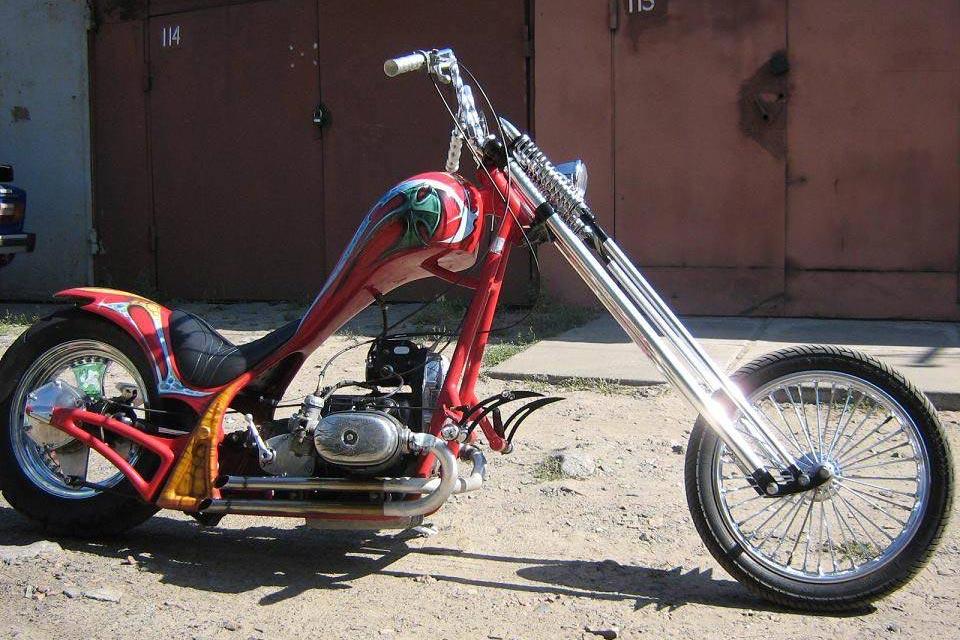 Тюнинг мотоцикла Урал в чоппер своими руками