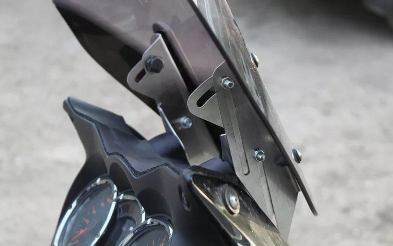 Крепление ветрового стекла мотоцикла своими руками 84