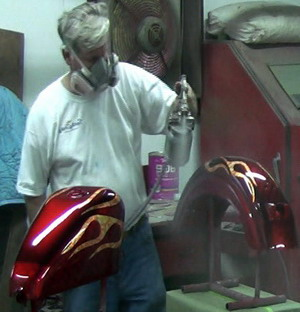 Как перекрасить мотоцикл ютуб