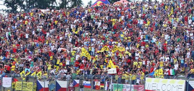 Статистика посещаемости этапов MotoGP на чемпионате мира сезона 2012.