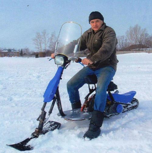 Снегоход своими руками из скутера 236