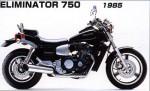 Мотоцикл Eliminator 750 - 1985: Эксплуатация, руководство, цены, стоимость и расход топлива